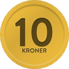 Alt 10,- kr.