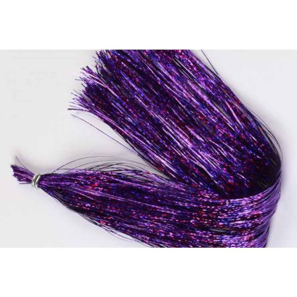 Holografisk Flashabou - Purple (smal)