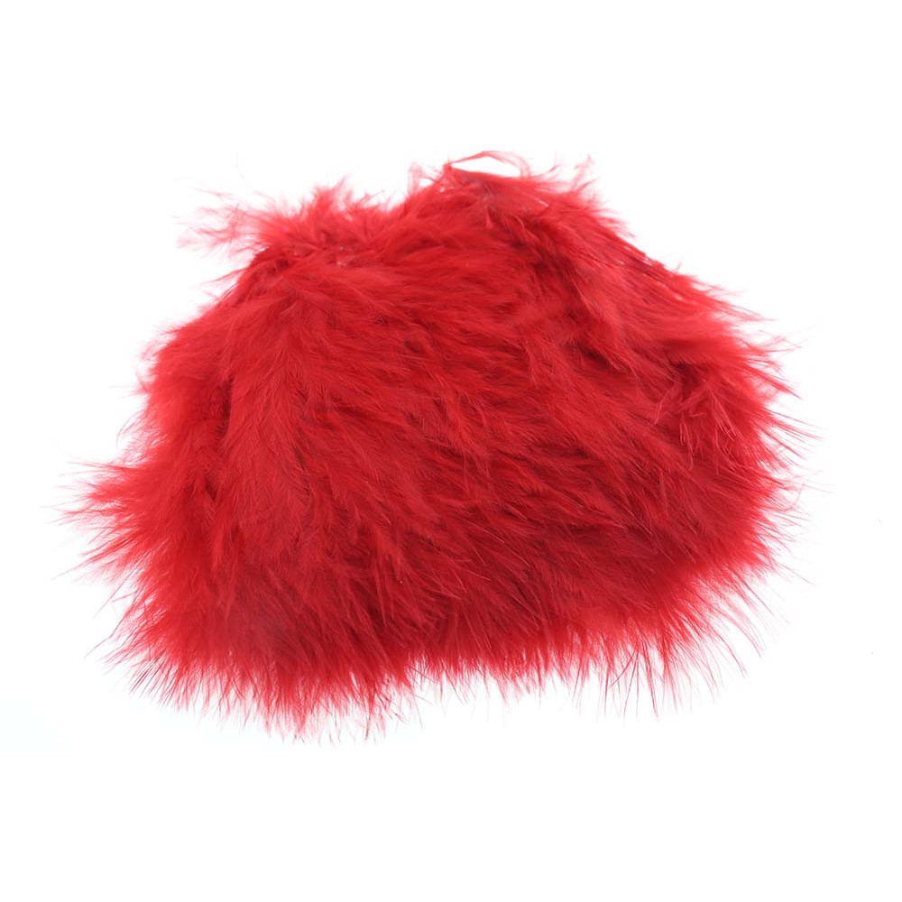 Wolly Bugger Marabou - Hot Red