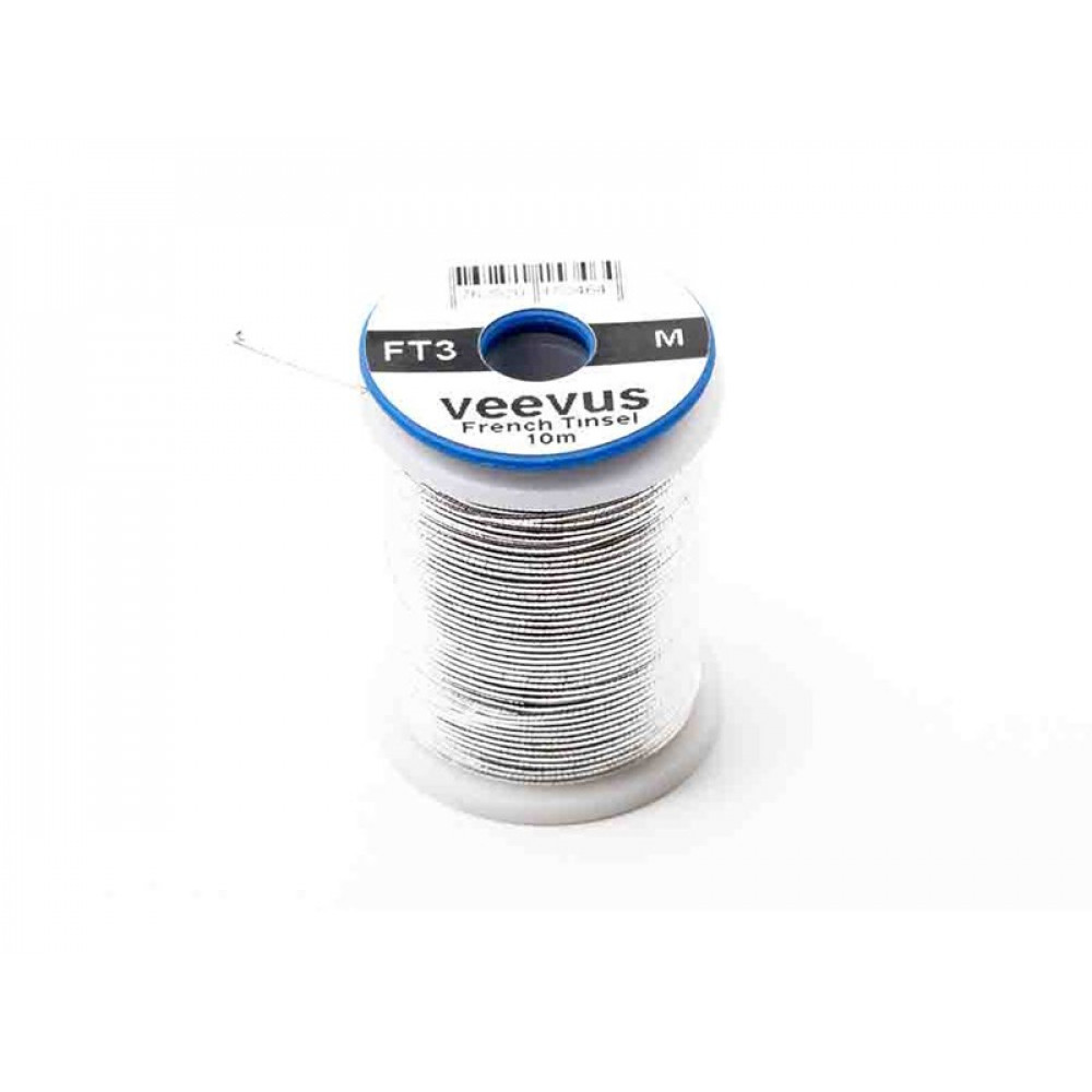 Veevus french oval tinsel - Silver