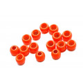 Futurefly Brass Beads - Fl. Orange 4 mm