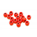 Futurefly Brass Beads - Fl. red 4 mm