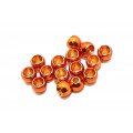 Futurefly Brass Beads - Metallic Golden Orange 4 mm