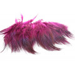 Ringneck Rump Hackler - Fluorescent pink