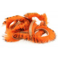 Black Barred Magnum Rabbit Strips - Hot Orange