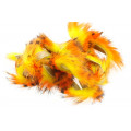 Tiger Barred Magnum Rabbit Strips - Black/ Orange over fl. Yellow