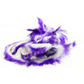 Tiger Barred Magnum Rabbit Strips - Purple/ Black over White