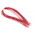 Grizzly Barred Round Rubberlegs - Neon Red