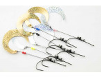 Wiggletail tube hook rig (Gold)