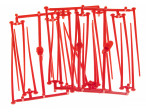 AHREX Flexi Pegs, Red