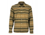 Simms Gallatin Flannel Shirt Rich - Dark Bronze Stripe