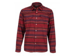 Simms Gallatin Flannel Shirt Rich - Auburn Red Stripe