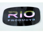 Rio Sticker - Big oval Black/Rainbow 18 x 11 cm
