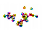 Multihued Rainbow Brass Beads - Rainbow