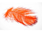Tip dyed Ostrich Herl - Orange/Red