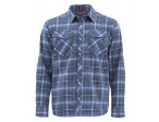 Simms Gallatin Flannel Shirt Rich - Blue Stripe