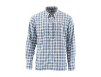 Simms BugStopper Shirt Plaid - Faded Denim Plaid