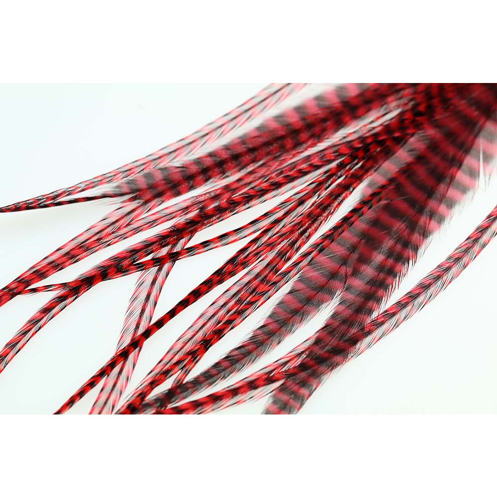 Loose Pike saddle Feathers - Grizzly Red