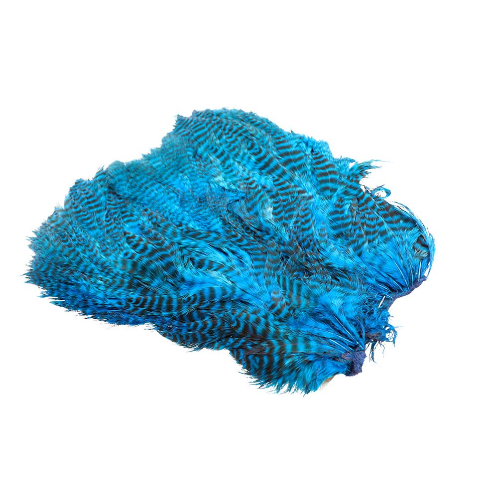 Soft Hen Patch - Grizzly kingfisher blue