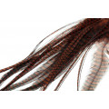 Loose Pike saddle Feathers - Grizzly brown