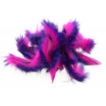 Tiger Barred Magnum Rabbit Strips - Black Barred Purple/ Funchsia
