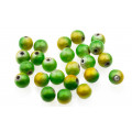 Proeye 3D Poly Beads 6mm - Chartreuse Mix
