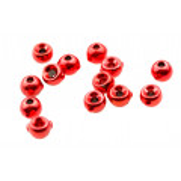 Nymph Head. Tungsten beads - Bloodworm Red